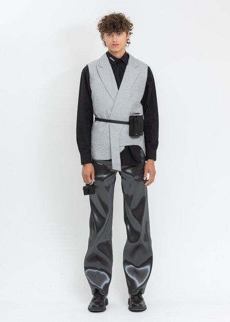 Heliot Emil Asymmetric Sleeveless Blazer - Grey