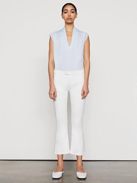 FRAME Denim Le Serge Crop Flare Jeans - White