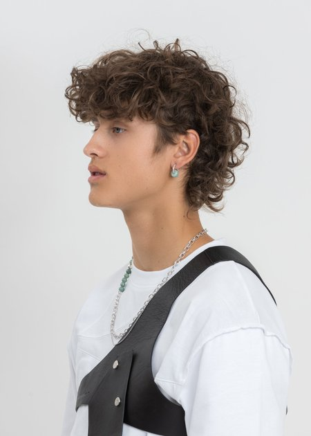 William Shen Jade Earring - Silver