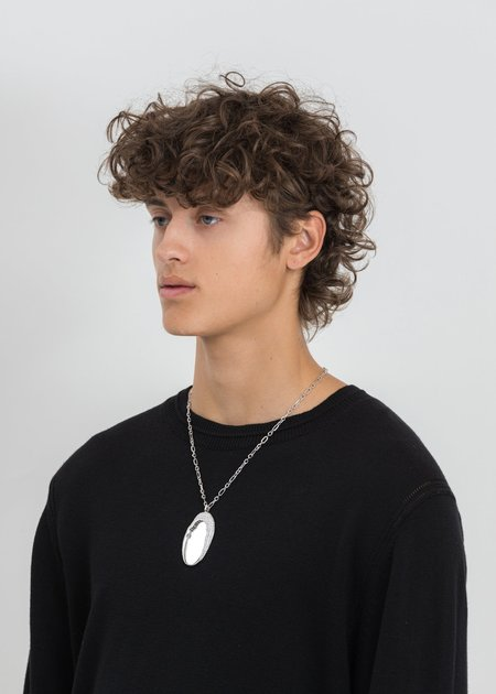 William Shen Mirror Necklace - Silver