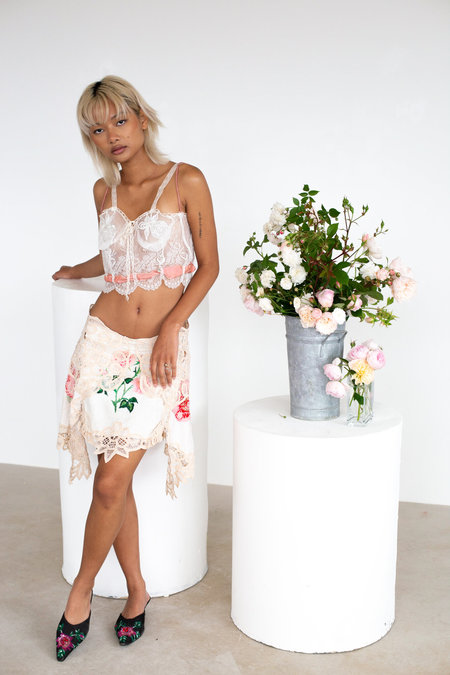Sydney Pimbley Kiss From A Rose Bustier top - white