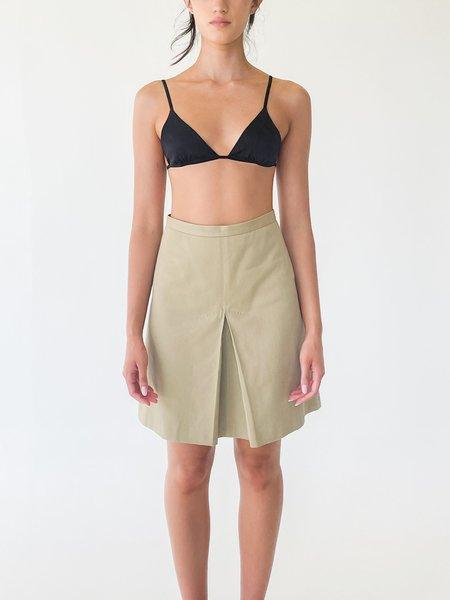 Vintage High Rise Pleated Skirt - Ecru