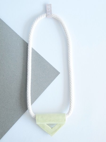 YYY chartreuse triangle necklace