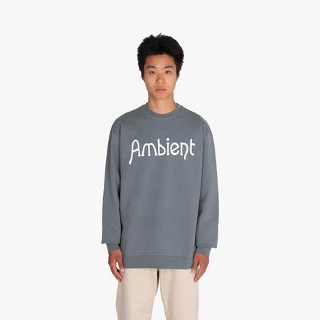 Good Morning Tapes Ambient Crewneck sweater - Stone Blue