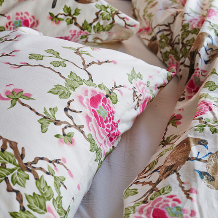 Erica Tanov lovebird pillowcases