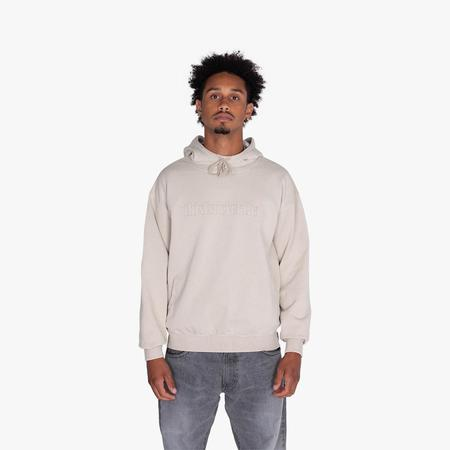 thisisneverthat Washed Embroidery Pullover Hoodie sweater - Stone