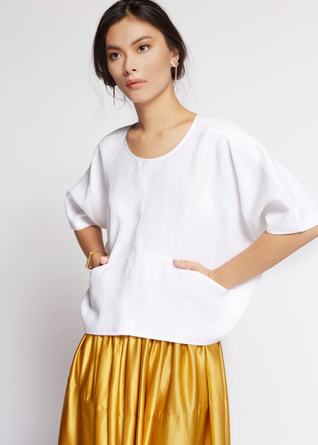 Megan Huntz Linz Top in linen