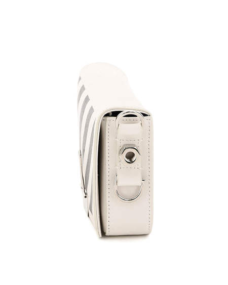 Off-White Leather Diag Bag - White