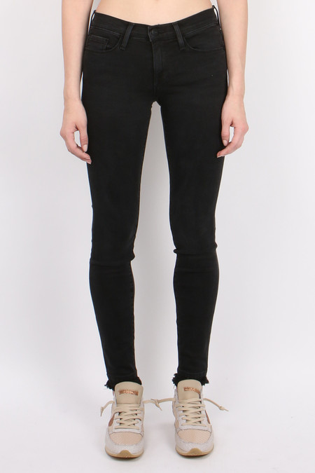 FRAME Denim Le Skinny De Jeanne Double Raw