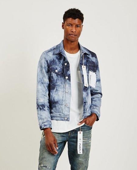 Purple Brand P007 denim jacket - Blue Granite Tiedye