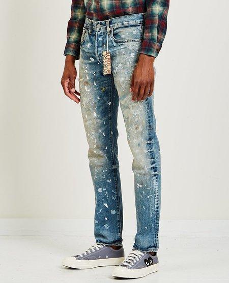RRL Slim Fit Distressed Selvedge Jeans - Light