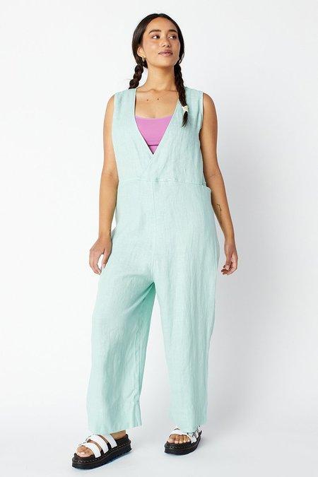 Back Beat Co. Linen Reversible Brooklyn Jumpsuit - Foam