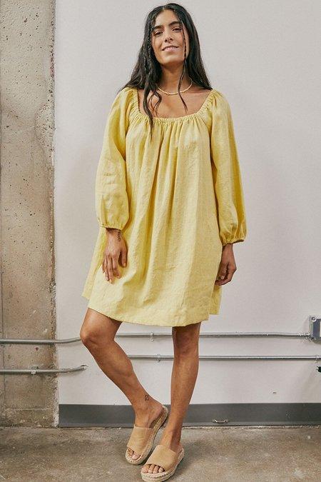 Back Beat Co. Linen Rory Dress - Lime