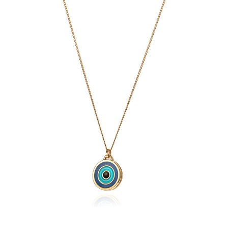 Jenny Bird Evil Eye Pendant - Gold