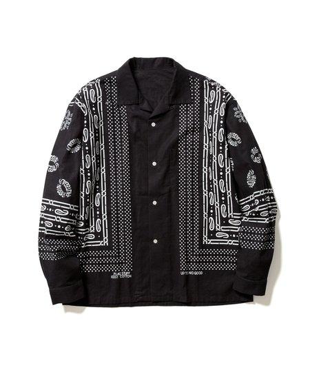 FLAGSTUFF Bandana L/S Shirt - Black