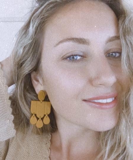 Elizaberry Deco Drop Earrings - Terracotta