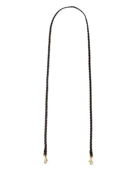 Clare V. Mini Braided Crossbody Strap - Black