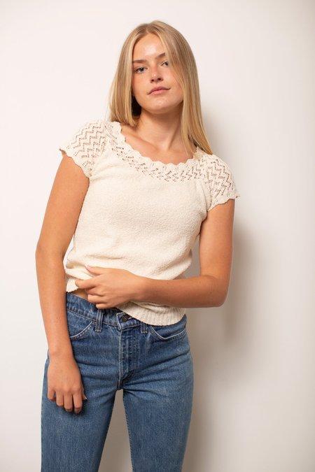 Vintage Crochet Top - Off White