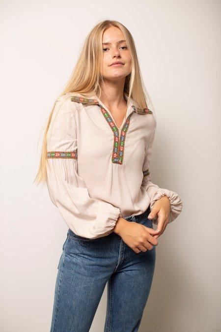 Vintage Long Sleeve Top - Tan