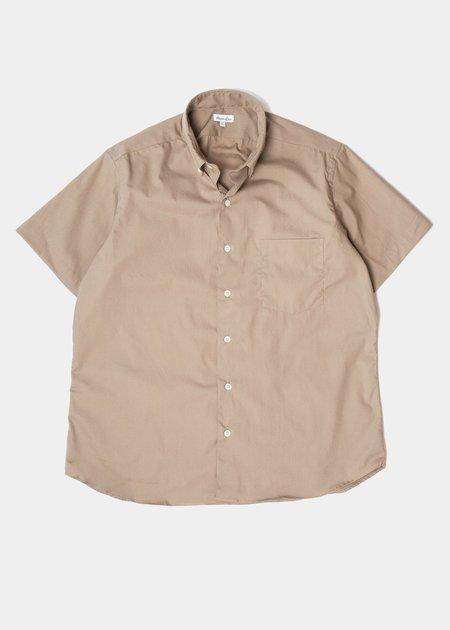Steven Alan Short Sleeve Single Needle Shirt - Fatigue Poplin