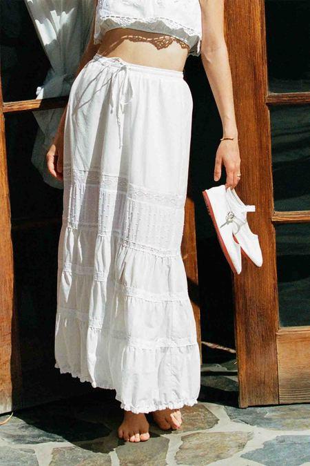 Merritt Charles Cassidy Maxi Lace Skirt - White