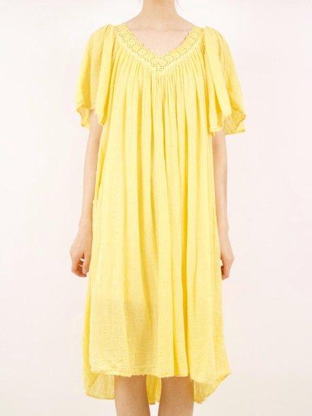 Vintage gauze dress  - yellow