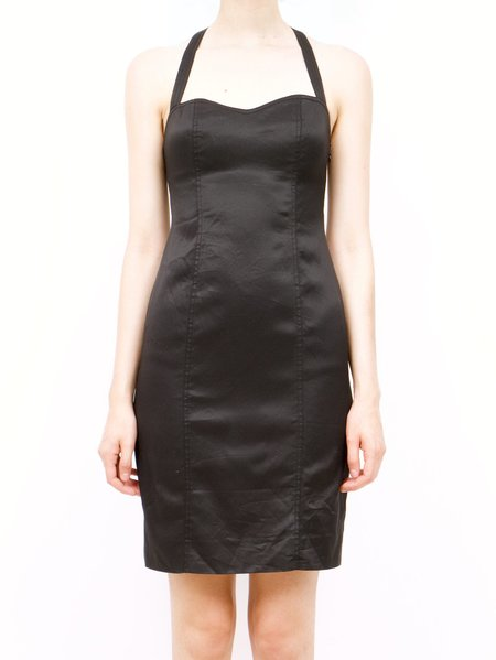 Vintage moschino cheap and chic lbd dress - black
