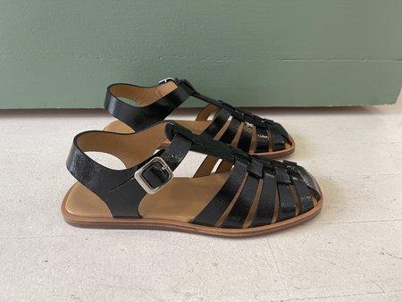 LoQ Rio Sandal - Black Crinkle Patent