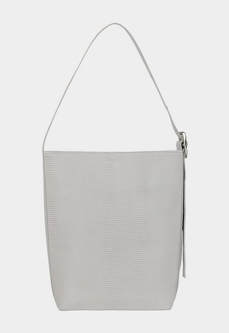 BRIE LEON Everyday Slouch Bag - Stone Lizard