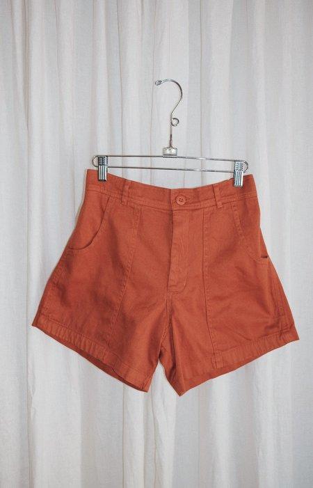 unisex Jungmaven Venice Shorts - Burnt Orange