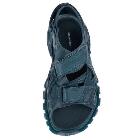 Balenciaga Dark Green Track Sandals