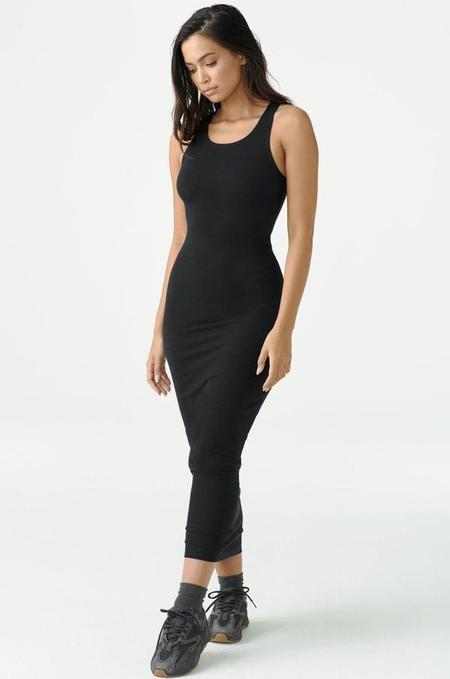 Joah Brown Classic Bodycon Maxi Dress - Black Flexrib