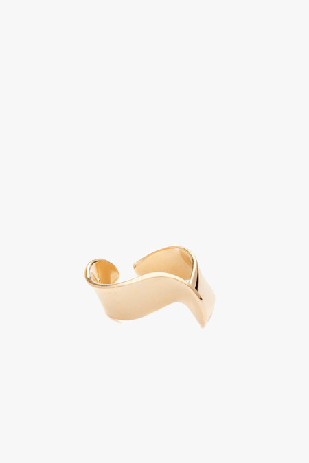 Odette New York Pivot Ring in Brass