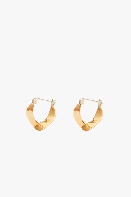 Odette New York Wishbone Earrings in Brass