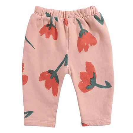 kids Bobo Choses Baby All Over Big Flowers Print  Sweatpants - Pink