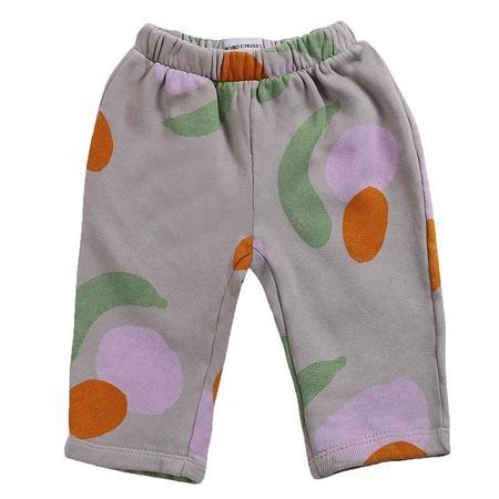 kids Bobo Choses Baby All Over Fruits Print Sweatpants - Grey