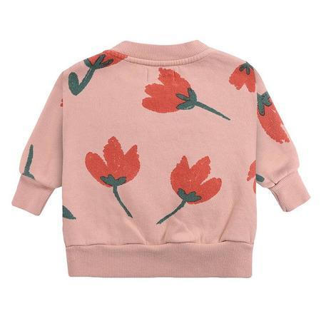 kids Bobo Choses Baby All Over Big Flowers Print Sweatshirt - Pink