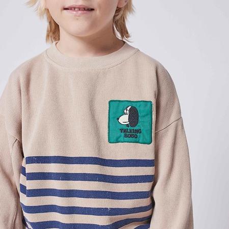 kids Bobo Choses Child stripes Sweatshirt - Taupe