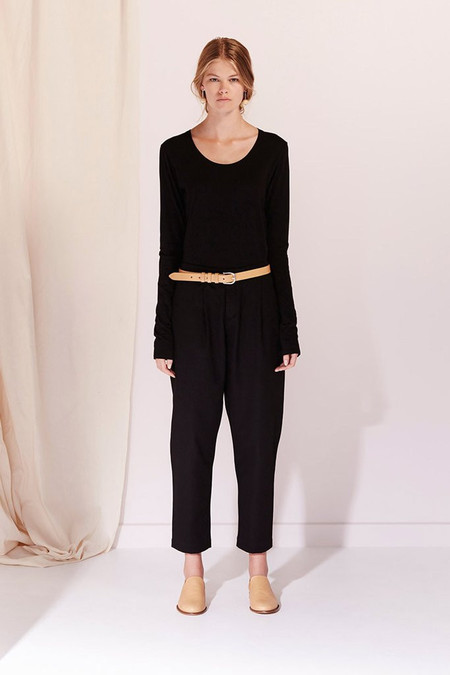 KOWTOW Building Block Long Sleeve Top in Black