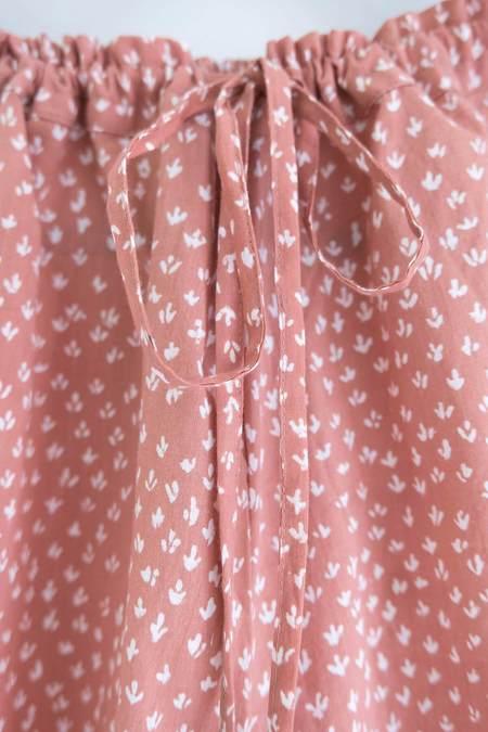 Karu scrub print pants - pink clay