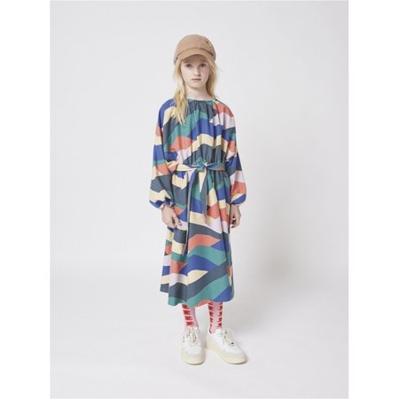kids bobo choses color block woven dress - bright multi colors