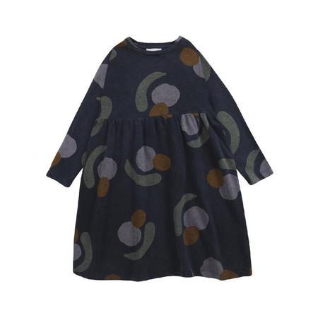 kids bobo choses fruits all over jersey dress - navy blue