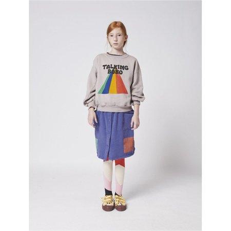 kids bobo choses talking bobo rainbow sweatshirt - gray