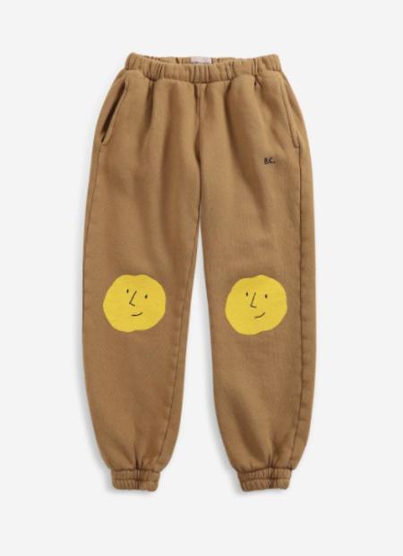 kids Bobo Choses Faces Jogging Pants - brown