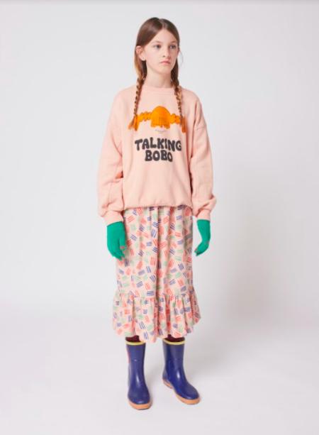 kids Bobo Choses Girl Talk Sweatshirt - pink