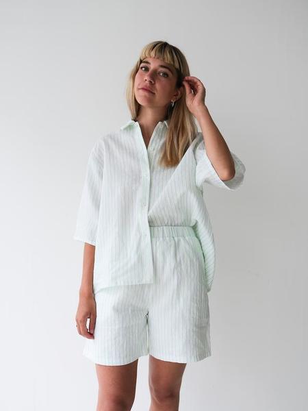 Odeyalo Mandy Bermuda Shorts - Neon Green Stripes