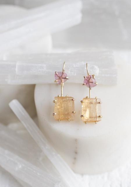 Variance Objects California Tourmaline Hook Earrings - 14KT/18KT Gold