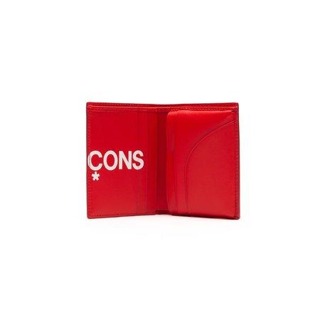 Comme des Garçons Huge Logo Bifold Wallet - Red
