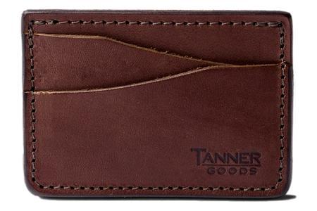 Tanner Goods Journeyman Card Wallet - Cognac