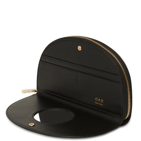 OAD Calf Dia Continental Mirror Wallet - True Black